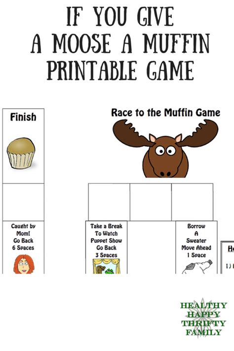If You Give A A Muffin Printable Book if you give a moose a muffin printable healthy