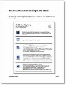 one page business plan template word 1 page business business templated