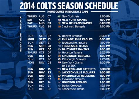 indianapolis colts 2015 schedule printable