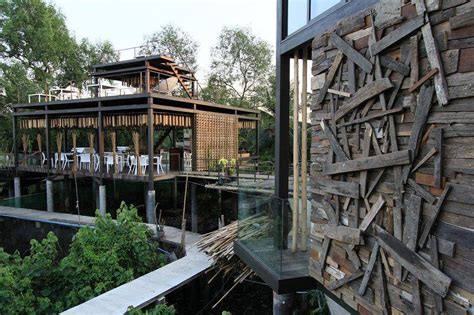 bangkok house exotic solar and wind powered bangkok tree house resort is a masterpiece of