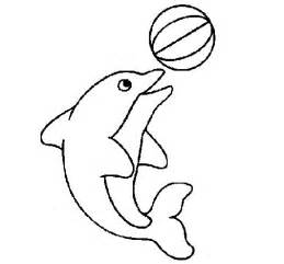 dolphin playing ball coloring coloringcrew
