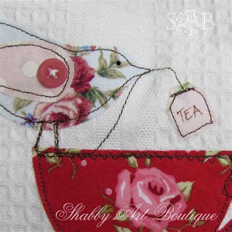 Handmade Tea Towels - and easy tea towel apron shabby boutique