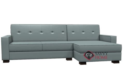 leather sleeper sectional with chaise nicole leather chaise sectional by lazar industries is