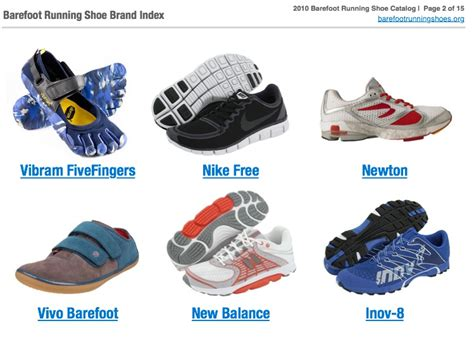 running shoes brands get the updated 2010 barefoot running shoe catalog