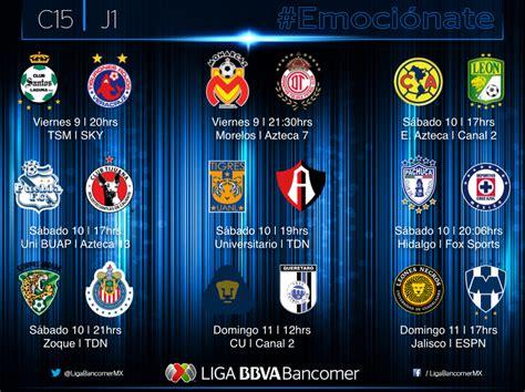 Calendario De Partidos Liga Mx 2015 De La Liga Mx Apertura Calendario 2015