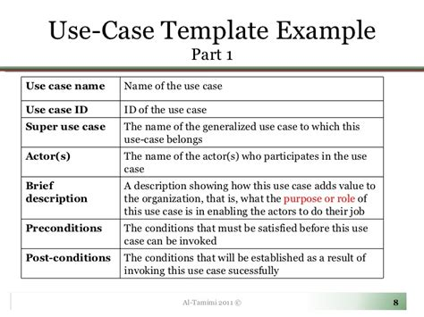business use case template noshot info