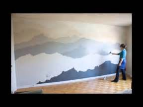 mountain wall murals good ideas for you hand painted mountain mural bedroom