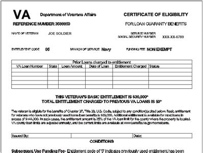 Va Mortgage Letter Of Eligibility va home loan certificate of eligibility cafe petitchien