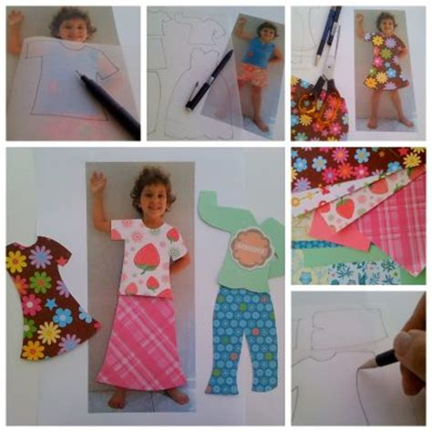 How To Make Doll Clothes With Paper - personalised paper dolls family crafts
