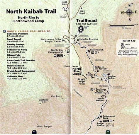 grand map south kaibab trail r2r2r grand 2017
