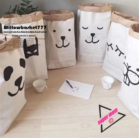 Paper Bags At Home - 2017 2016 ins home storage paper bags animal
