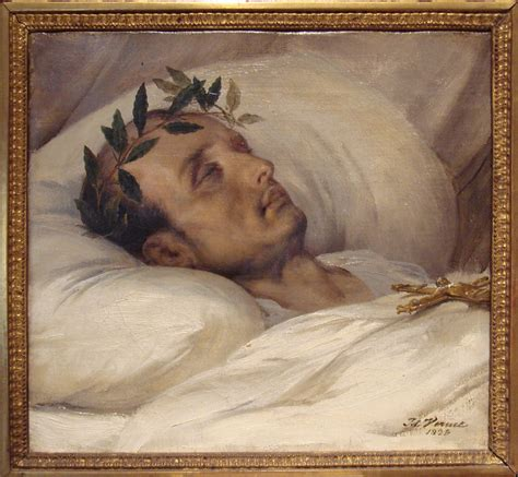 death bed napoleon on his death bed by horace vernet