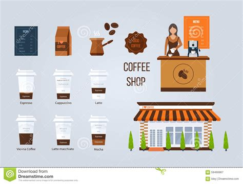 design elements of a coffee shop coffee shop illustration design elements young shop
