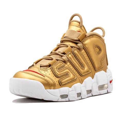 Nike Uptempo X Supreme Gold Premium nike air more uptempo nike