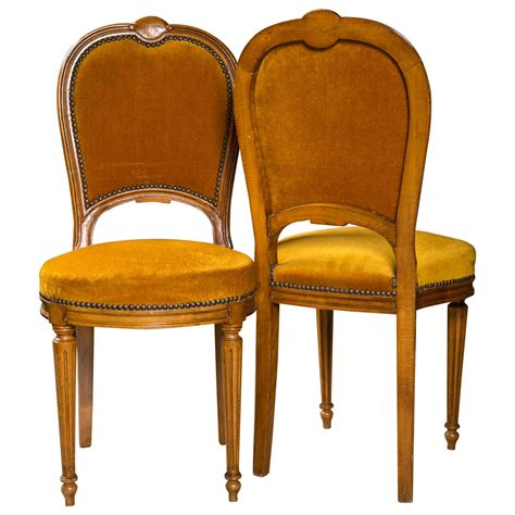 set of two jansen louis xvi style dining chairs for sale