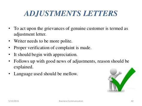 Business Adjustment Letter Definition business communication