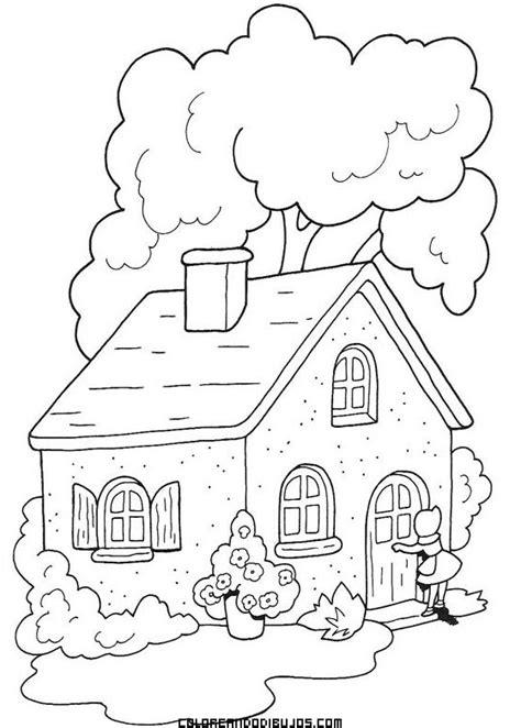 pueblo house coloring page casa de caperucita en el bosque