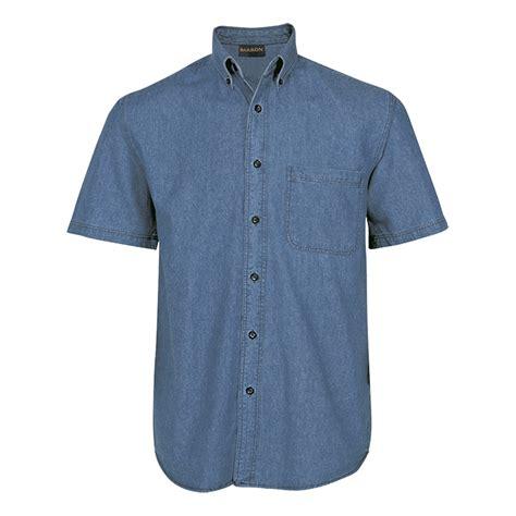Patches Denim Size Sml mens denim shirt sleeve shirt barron