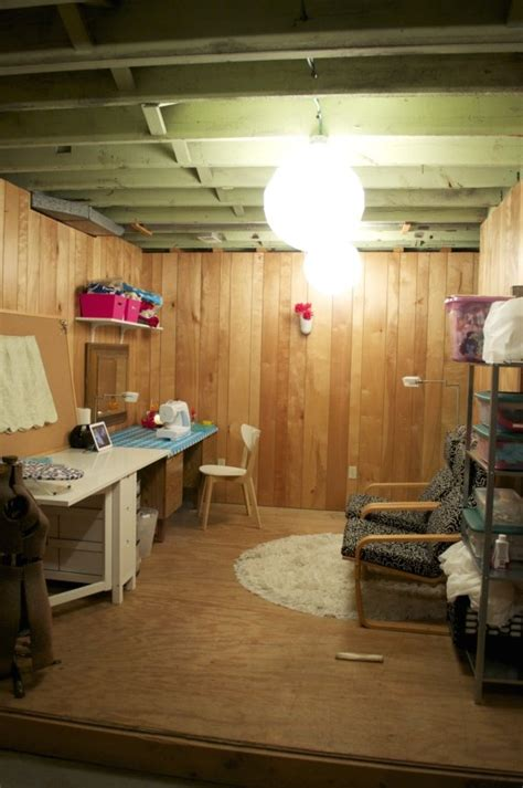 my basement sewing room craft spaces - Basement Sewing Room