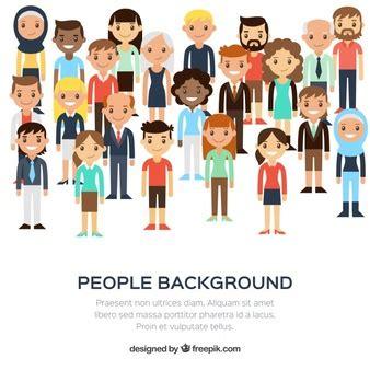 people cartoon characters vector   free download