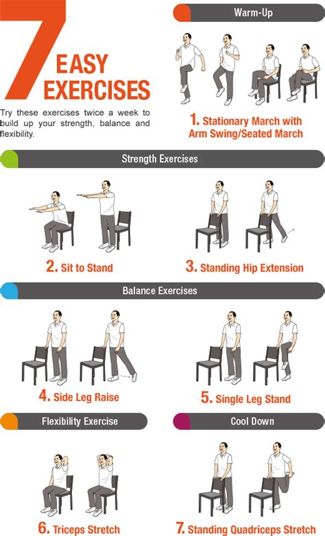 printable home exercise program for elderly 18 chair exercise for seniors pdf printable total