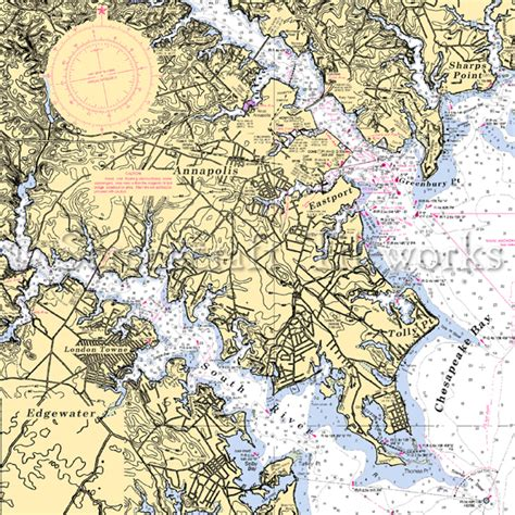 maryland map annapolis maryland edgewater annapolis eastport nautical chart