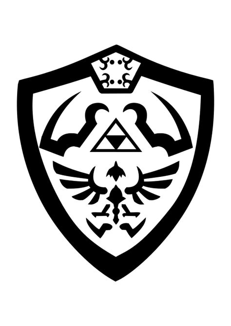 Hylian Shield Outline by Free Clipart Hylian Shield Objects