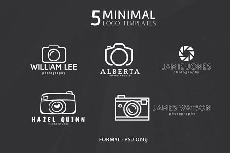 5 free minimal photography logos creativetacos