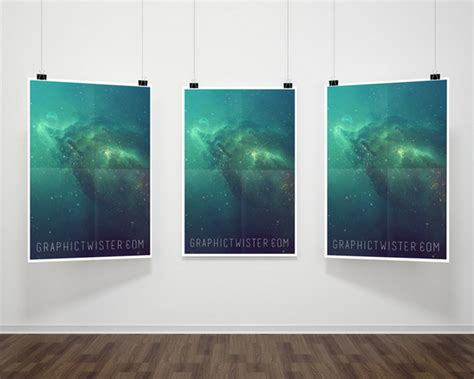poster hanging ideas 32 free photoshop psd flyer poster mockups