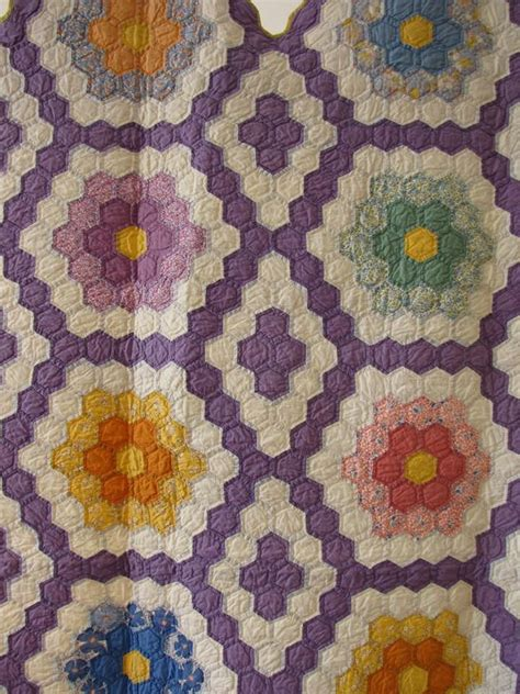 Hexagon Patchwork Quilt Patterns - 464 best images about quilts grandmother s flower garden