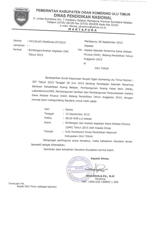 contoh surat undangan perpisahan kelas xii smk undangan rapat dak tahun 2015 kelompok kerja timdata
