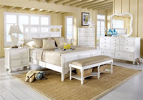 cindy crawford home seaside white panel  pc queen bedroom bedroom sets colors