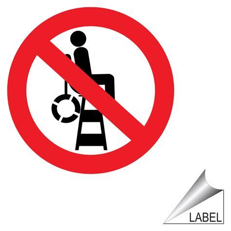 no lifeguard on duty symbol label label prohib 66 c no