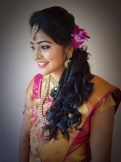 bridal hairstyles for indian reception indian bride s bridal hairstyle by swank studio find us