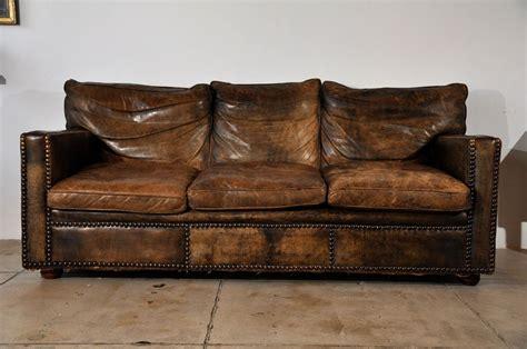 vintage sofa vintage custom leather sofa ca 1930 at 1stdibs