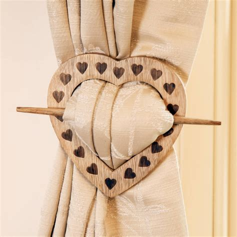 French Chalet Heart Curtain Tie Back By Dibor