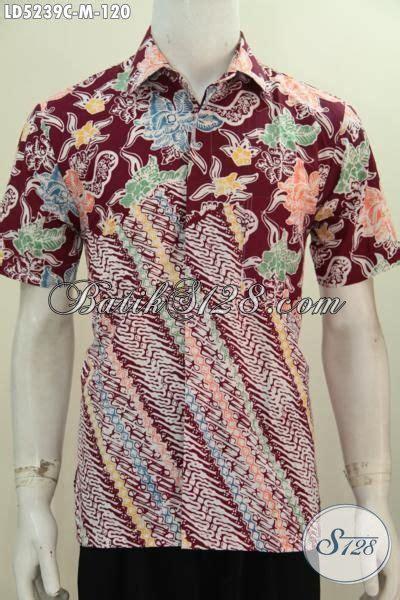 Baju Batik Lelaki Merah hem batik modis parang bunga warna merah baju batik lelaki muda agar bisa til gaya dan