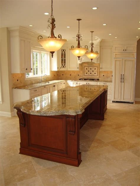 2 level kitchen island large 2 level island kitchen traditional kitchen