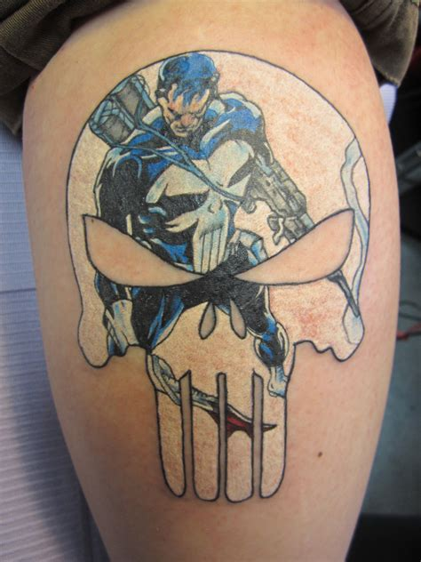 punisher skull tattoo the punisher by grimninjakitty on deviantart