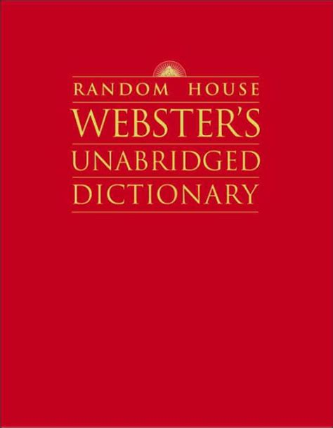 Random House Webster S Large Print Thesaurus Random House Newer Words Faster Random House Random House Webster S Unabridged Dictionary By Random House Hardcover Barnes Noble 174