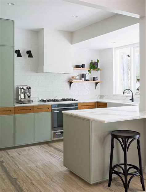 Kitchen Furniture Sydney Kitchen Of The Week A Before After Remodel In Sydney Australia Green Cabinets Cabinets And