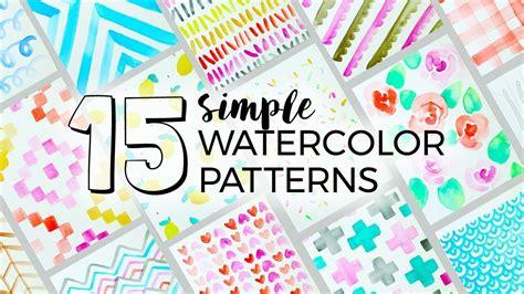 watercolor pattern diy 15 simple watercolor patterns to paint sea lemon my