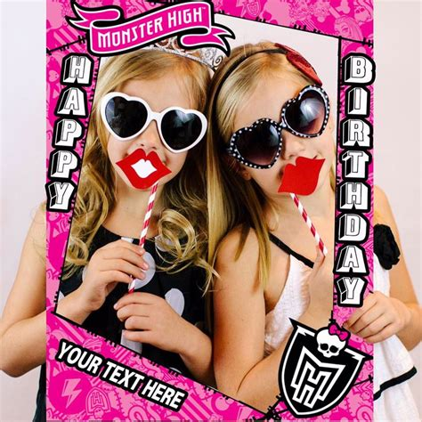 monster high printable photo booth props monster high party props photo booth frames social media