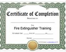 extinguisher certificate template certificate templates printable templates free