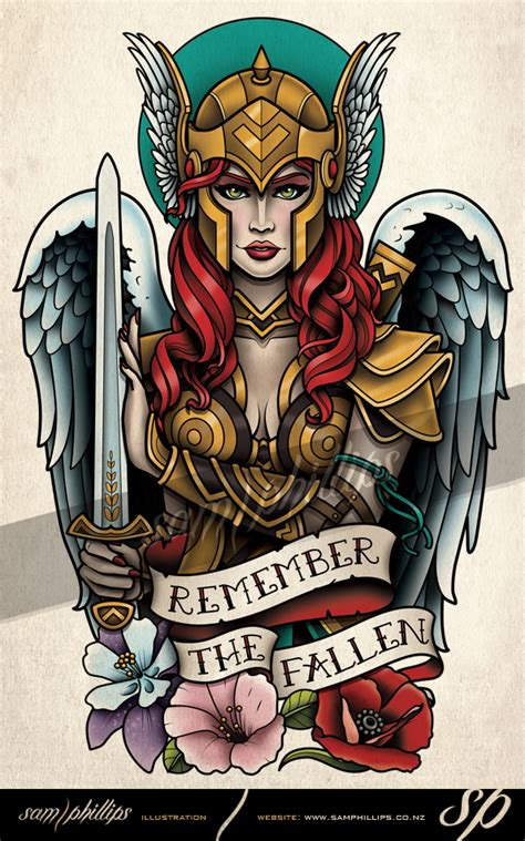valkyrie tattoo by sam phillips nz on deviantart
