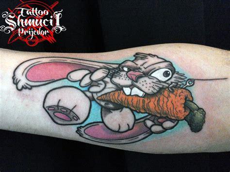 new school rabbit tattoo goran jeftic certified artist