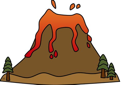 mark 1 14 20 clip art volcano clipart volcanic eruption pencil and in color