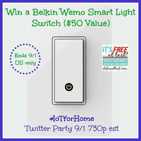 Switch Giveaway - belkin wemo smart light switch giveaway 50 value
