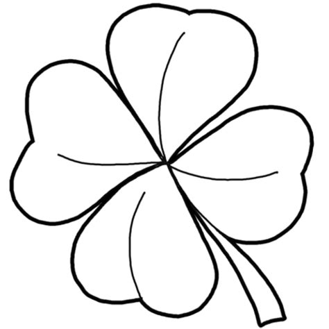 Coloring Now 187 Blog Archive 187 St Patrick S Day Coloring Pages Four Leaf Clover Coloring Pages