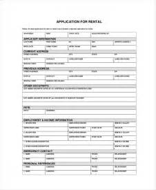 apartment rental application template apartment application 7 free pdf word documents